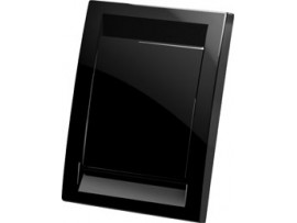 Vtičnica stenska končna, črna (PVC)