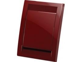 Vtičnica stenska končna, rdeča (PVC)