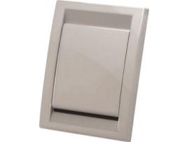 Vtičnica stenska končna, siva (PVC)
